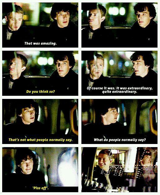 """,,To bylo neuvěřitelné!"""" ,,Myslíte to vážně?"""" ,,Samozřejmě že.Bylo to naprosto úžasné!"""" ,,To mi lidé obvykle neříkají."""" ,,A co říkají?"""" ,,Polib si."""""""