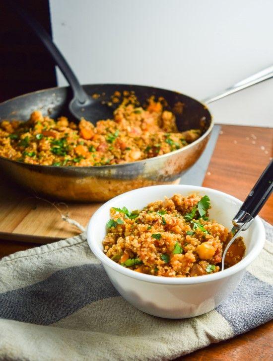 One Pot Tandoori Quinoa | yupitsvegan.com. A vegan and gluten-free one pan quinoa dish with Indian flavors.