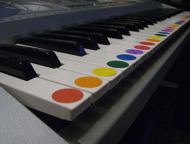 Teaching colors using a piano!  I'm so going to do this!!!