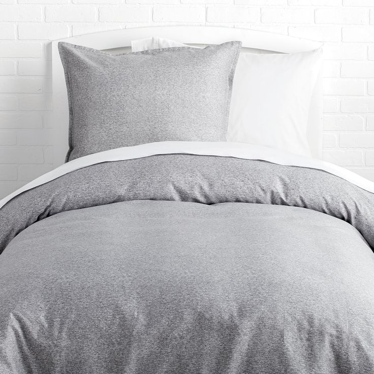 Perfect Grey Duvet Cover and Sham Set