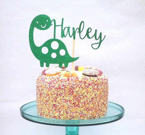 Personalised cake topper dinsoaur cake topper party decor