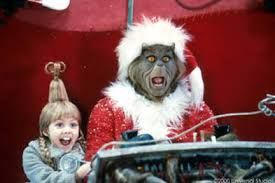 """Cindy Lou Who: """"We're gonna crash!"""" The Grinch: """"Now you listen to me, young lady! Even if we're *horribly mangled*, there'll be no sad faces on Christmas."""""""