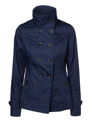 This VERO MODA trench coat will be perfect for spring - a great transition jacket.  #veromoda #trenchcoat #fashion #blue #navy