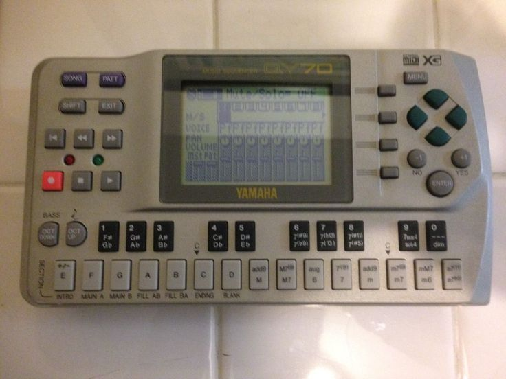 YAMAHA QY70 Mobile Music Sequencer with Original User Manual