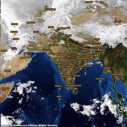 Latest INSAT satellite Image of India for 20 March 2015  http://www.skymetweather.com/insat/weather-satellite-images-of-india/