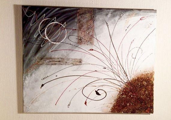 """tableau abstrait acrylique """" feux d'artifices"""""""