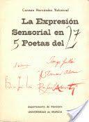 La expresión sensorial en cinco poetas del 27