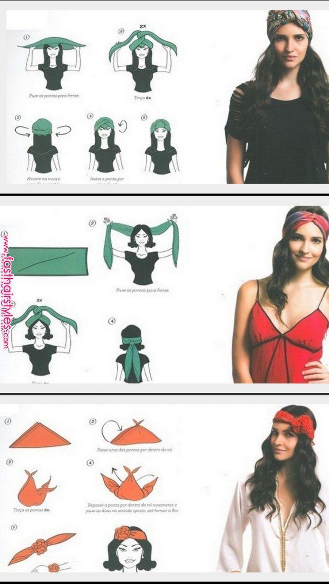 3 Möglichkeiten, Schals an den Kopf zu binden. #binden #moglichkeiten #schals
