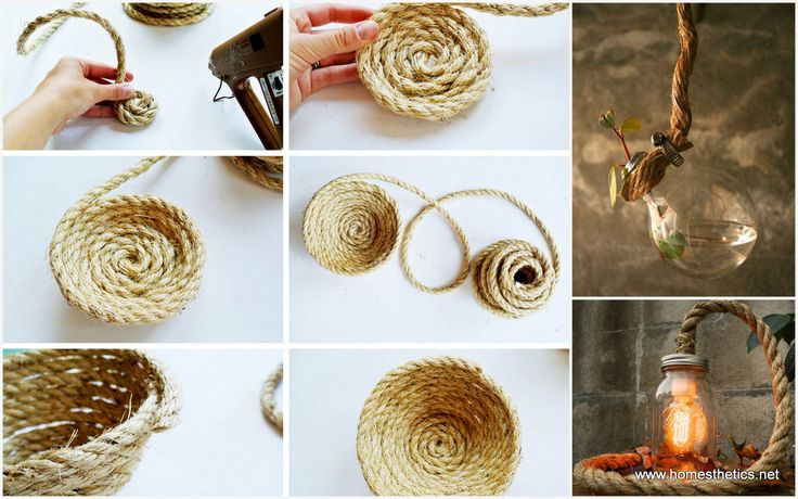 Such a project implies the usage of old kitchen objects such as old mugs, bottles, containers, tin cans or old tires that by the magic of rope become beautiful assets to your home decor. Enjoy our 25 Easy DIY Rope Projects for Your Home Now!