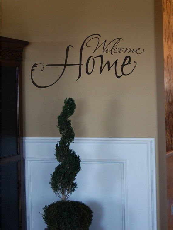 Welcome Home  Vinyl Wall Decal by homesweetwalls on Etsy, $24.00