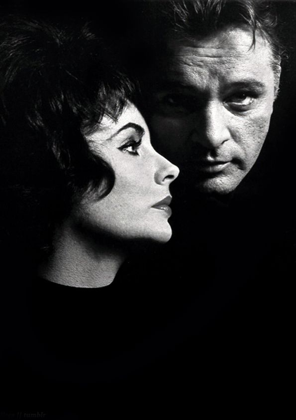 "Elizabeth Taylor and Richard Burton         by John Engstead  Elizabeth: ""I love Richard Burton with every fiber of my soul but we can't be together."""