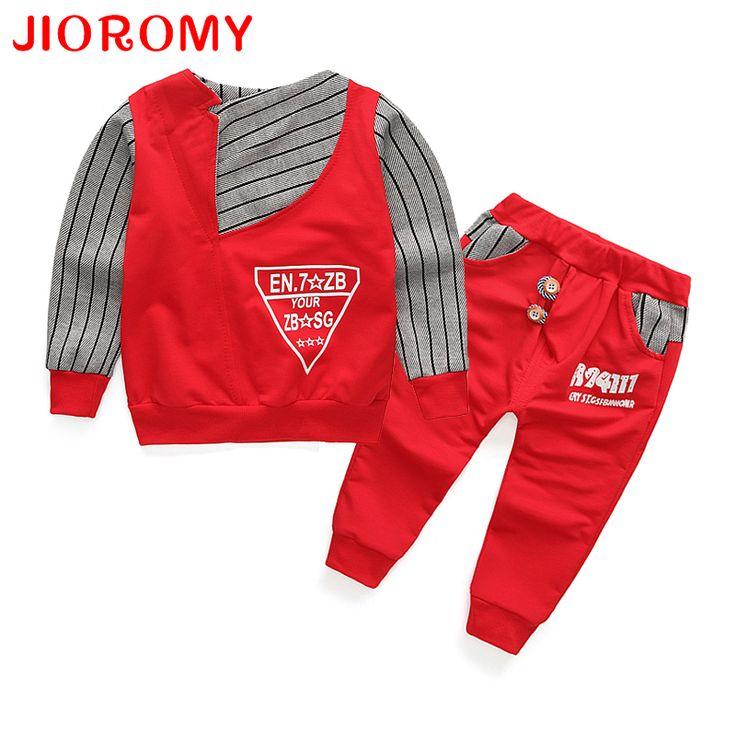 Baby Suit For Boys Clothes 2017 Full Oblique Collar Cotton Top+ Trousers Pants Tracksuit Suit for Children Boys Kid Clothing #Affiliate