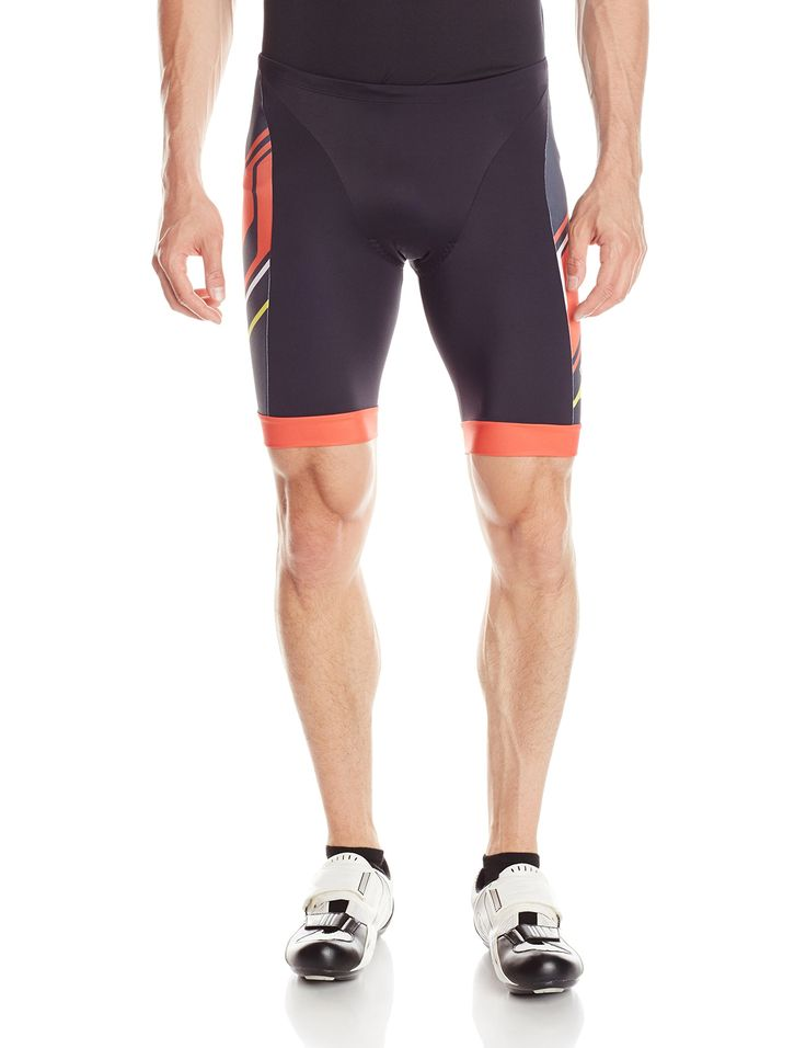 Pearl Izumi - Run Men's Elite In-R-Cool LTD Tri Shorts, Medium, Insert Mandarin Red. 72% nylon 28% elastane. Imported product. 2015 Spring/Summer. ELITE Transfer In-R-Cool fabric powered by coldblack provides superior cooling and reflective sun protection. Overlock stitch construction for superior next-to-skin comfort and graphic alignment.