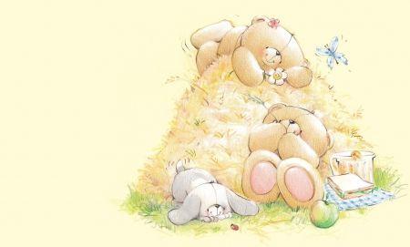 Happy summer! - teddy bear, summer, toy, card, cute