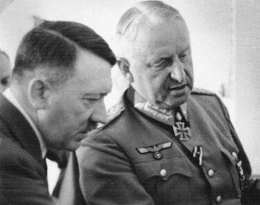 Feldmarschall von Manstein with Hitler, September 1943.
