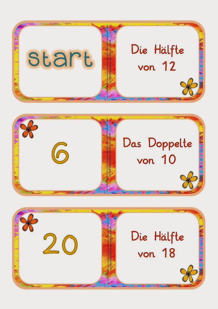 Domino - Doppelte und Hälfte bis 20