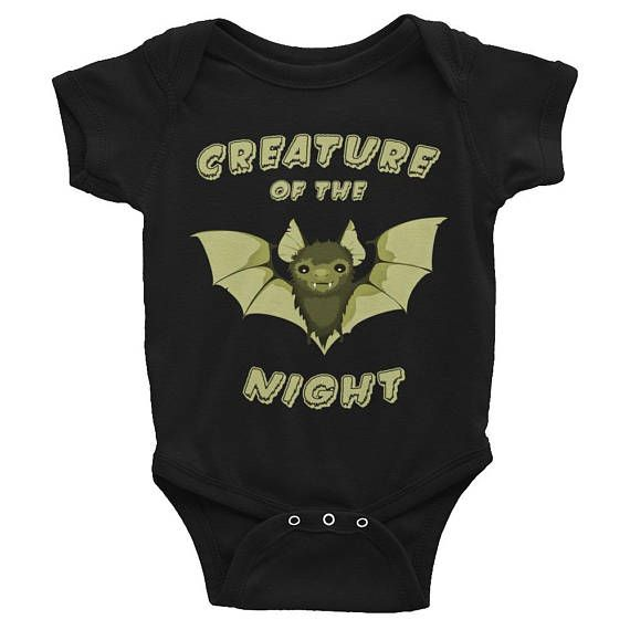 Creature of the Night Baby Onesie, Goth Baby Clothes, Goth Baby, Gothic Baby Clothes, Gothic Baby, Black Baby Clothes, Goth Mom, Gothic Mom, Rockabilly Mom, Alt Mom, Alternative Mom, Punk Mom, Punk Baby, Rockabilly Baby, Alternative Baby, Rock Baby, Bat Baby, Bat, Witch Baby, Ghost Baby,  Baby Romper, Black Bodysuit, Black Onesie, Clothing, Unisex Baby Clothes, Halloween, Baby Shower Gift, New Baby Gift, Push Present, First Birthday Gift, Pregnancy Announcement