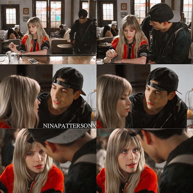 brooke and stavo I really love this couple (soon to be) bc he kinda reminds me of Jake ~info~ -show: scream -character: brooke and gustavo -filter: @polarrttrls -watermark: will&grace -episode: 2x06