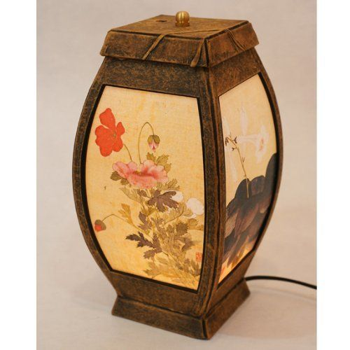 Asian Decorative Accents | ... Asian Oriental Decorative Bedside Bedroom Accent Unusual Table Light