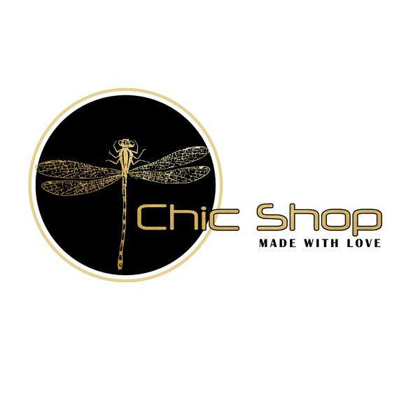 Custom Logo design chic elegant black and gold by HappyLogo