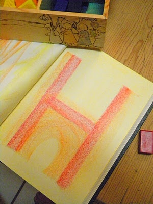Drawing with Block Crayons