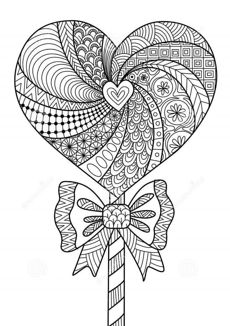 Lollipop zentangle coloring page