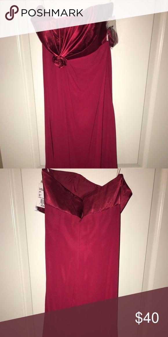 Mid length apple braid maid dress Mid length apple color strapless braid maid dress size 2 Dresses Wedding