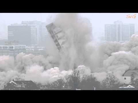 ▶ Sprengung des AfE Hochhaus in Frankfurt am Main - YouTube