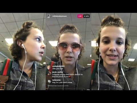 Millie Bobby Brown | Instagram Live Stream | 8 May 2017 - YouTube