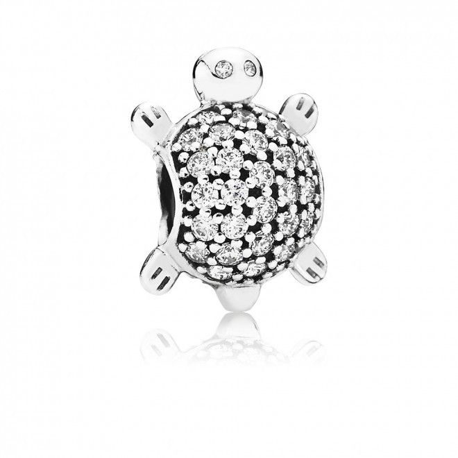 Pandora - Sparkling Sea Turtle Bead With Pave Cubic Zirconia