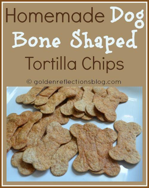 Homemade Dog Bone Shaped Tortilla Chips for Girl's Puppy Dog themed Birthday Party  | goldenreflectionsblog.com #BirthdayParty #PuppyPawty #Recipes