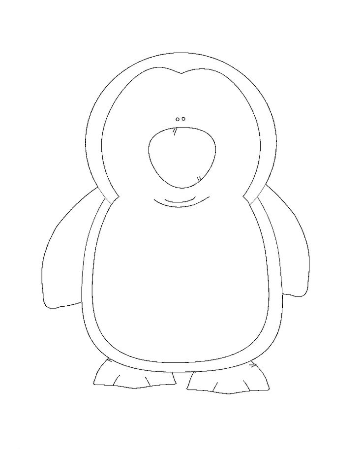cute penguin coloring pages - photo#20