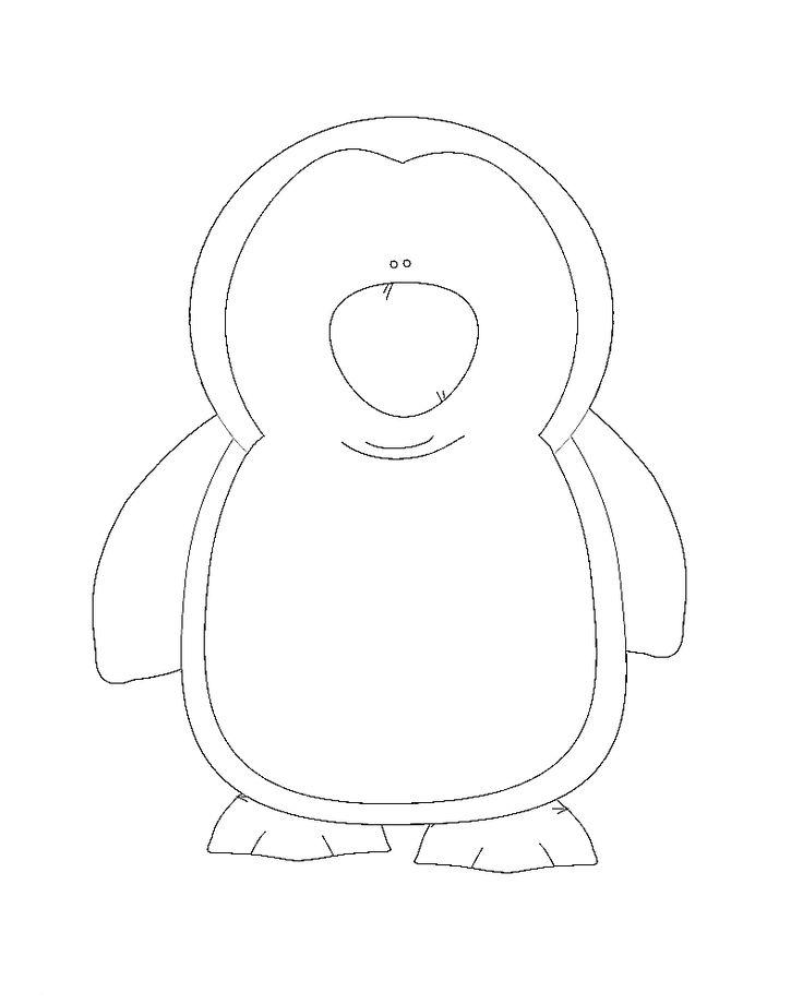 62 best Penguins images on Pinterest DIY, Molde and Appliques - penguin template