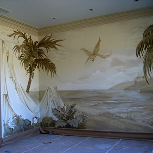 17 best images about paint trampantojo trompe l 39 oeil for Ceiling mural painting techniques