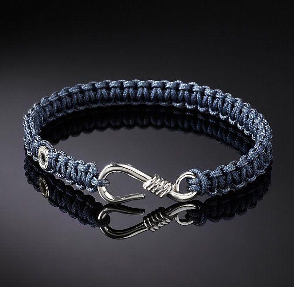Catherine M. Zadeh                        Men's Hook Macrame Bracelet - Navy