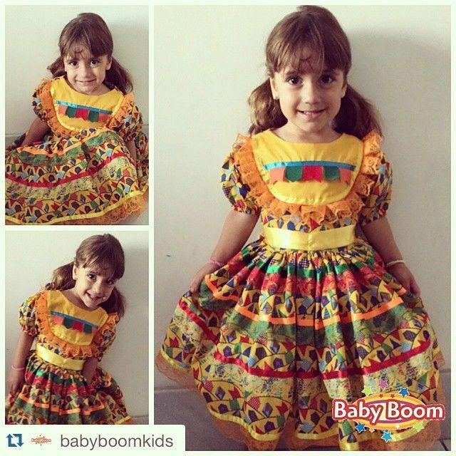 Instagram media skacessorios - Sequência da matutinhas mais lindas essa semana❤️❤️ #Repost @babyboomkids with @repostapp. ・・・ A matuta Laís também já escolheu o look do arraial.  #vestidosjuninos #vestidojunino #sjbabyboom2015 #saojoao2015