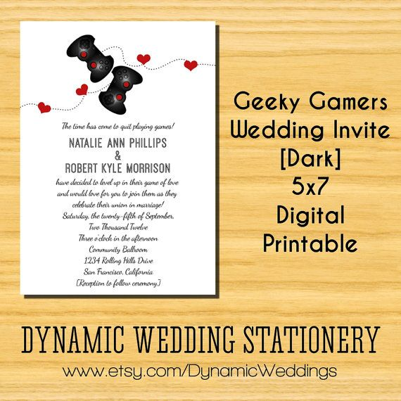 76 Best Geeky Wedding Images On Pinterest Bridal Invitations