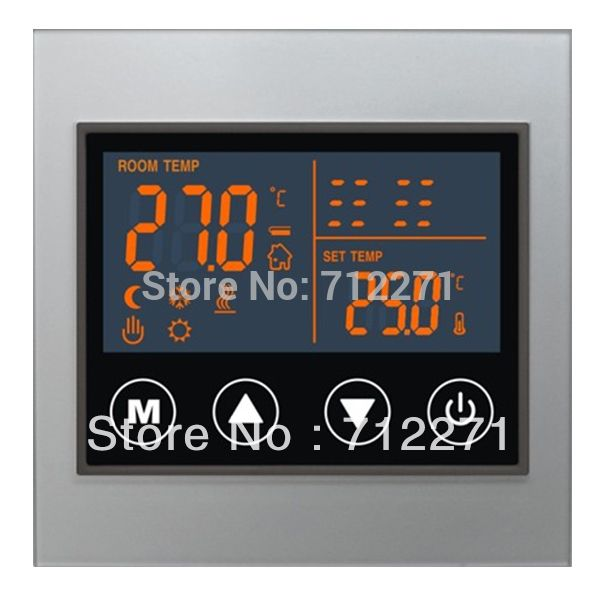 water underfloor heating system LCD display  touch screen thermostat