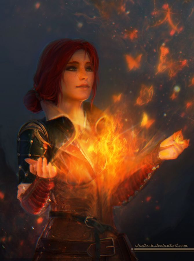 Triss Merigold from Witcher 3: Wild Hunt.Hope you'll like the picture and no using it without my permission.