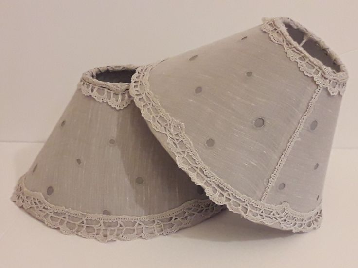 Lampshades with linen and vintage lace