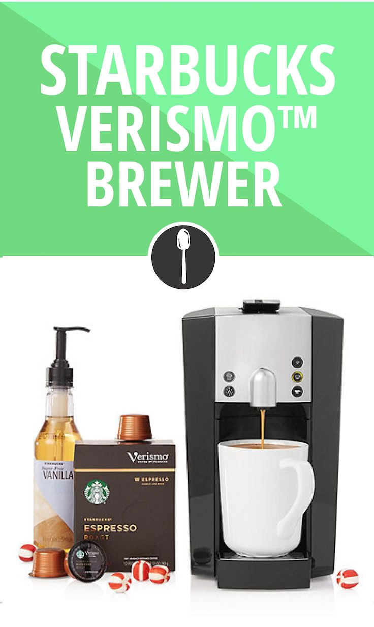 It's time for your friend to break up with their favorite barista, because mornings waiting in line are now officially over. Introducing, the Starbucks Verismo brewing machine. Be the barista and buy it here.