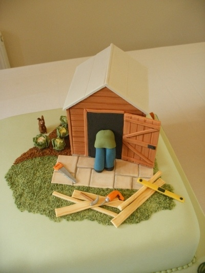 Shed and tools By Trudies_cakes on CakeCentral.com