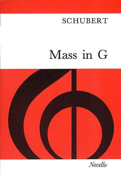 The revised 1977 edition of Schubert's Mass In G For soprano, tenor and bass soli, SATB chorus, strings and organ. Optional wind and timpani.