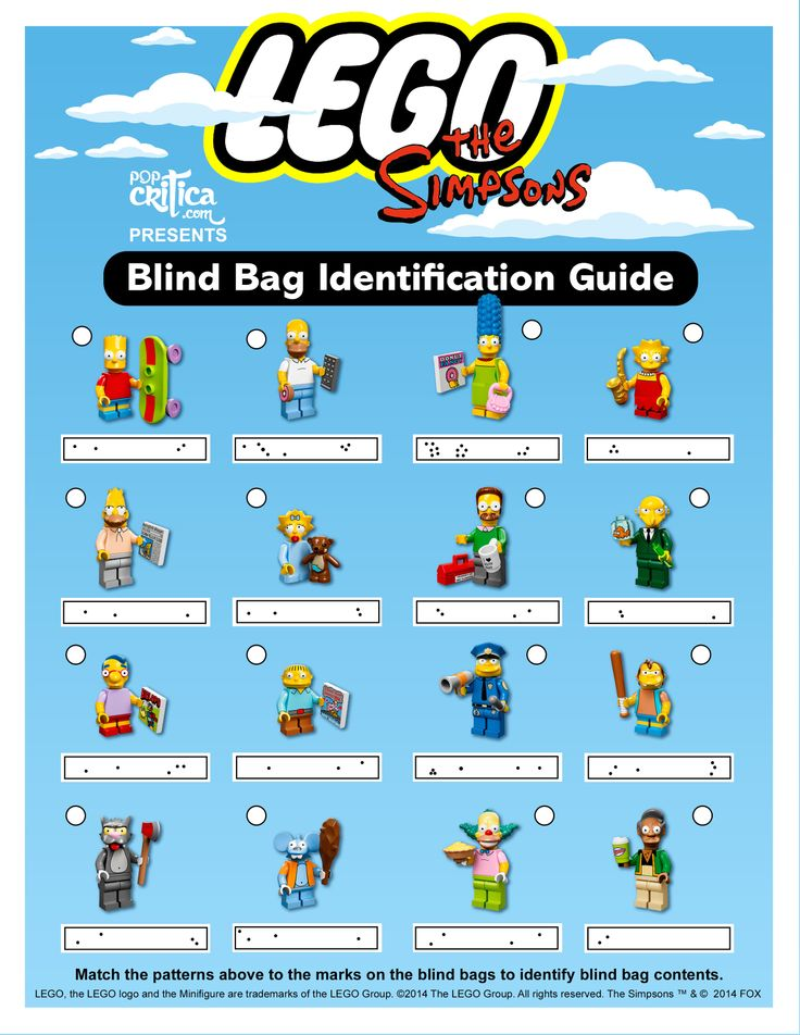 Identification Guide to Lego Simpsons Minifigure Blind Bags | Pop Critica