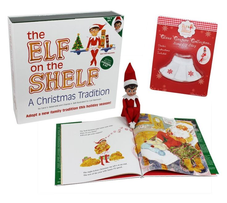 The Elf on the Shelf - Girl Elf Edition with North Pole Blue Eyed Girl Elf and Girl-character themed Storybook with Snowflake Skirt