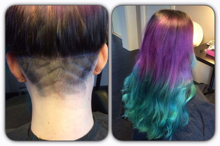 Crazy haircolor, haircut
