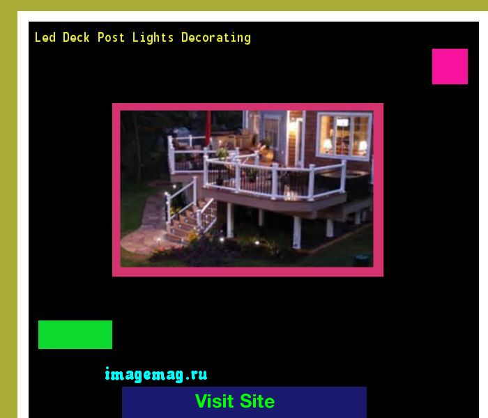 Led Deck Post Lights Decorating 153427 - The Best Image Search