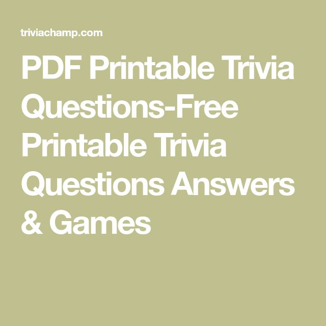 Best 25 Trivia Questions Ideas On Pinterest Fun Trivia Questions Trivia And Trivia Questions