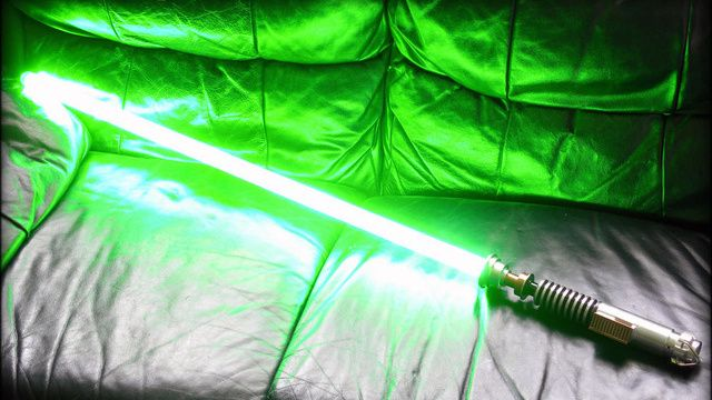DIY Light Saber by Bradley Lewis via gizmodo...I'm not a Star Wars