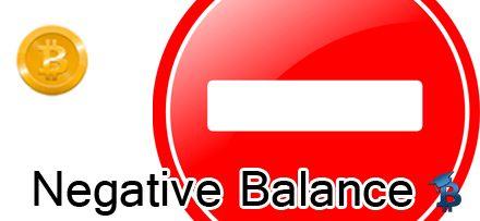 Negative Balance Bitcoin